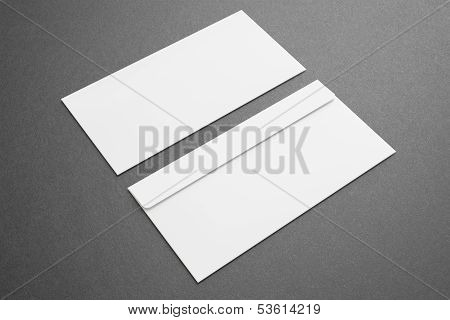 Blank Envelopes On Dark Background