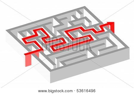 Maze Puzzle And Solution