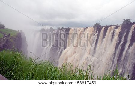 Panoramic View With Victoria Falls(south Africa)
