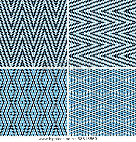 Seamless argyle blue pattern