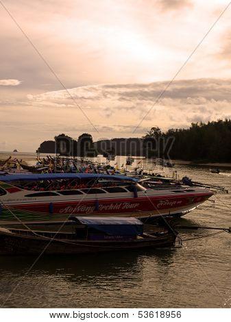 Boats In Ao Nang
