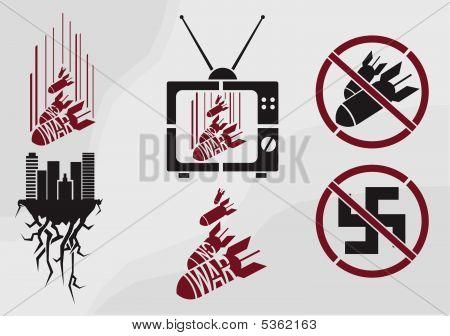 Vector stencil in propaganda style