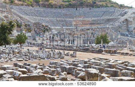 Theatre in Ephesus Ancient City
