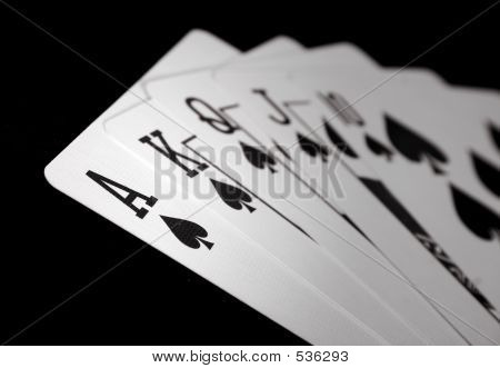 Ace Royal Flush - Spades