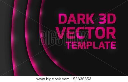 Abstract pink dark 3d design background