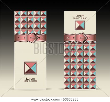 Banners or with strap buckle geometric pattern retro style