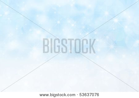 Snowy Stars And Bokeh Christmas Background