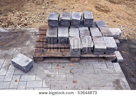 Urban Pavement Sidewalk Repar Work Place