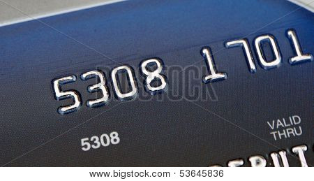 Blue Bank Card