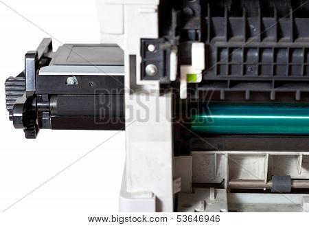 Maintenance Printer With Inserting Toner Cartridge