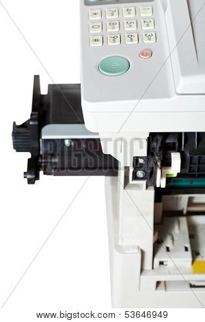 Maintenance Copier With Inserting Toner Cartridge