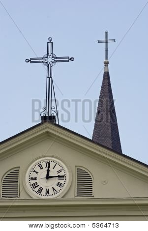 Crosses And A Church