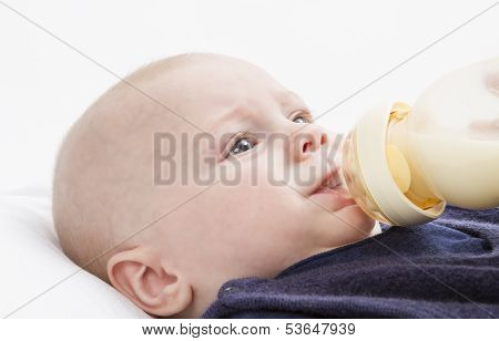 Nursling With Milk Bottle