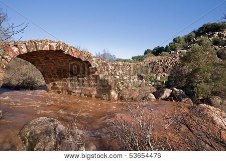 Roman bridge in Linares, Jaen province, Andalusia, Spain