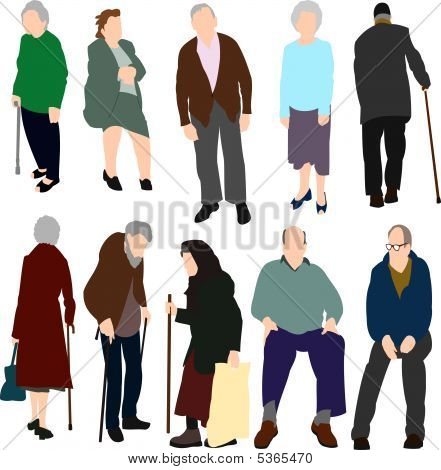 Set Of Old People