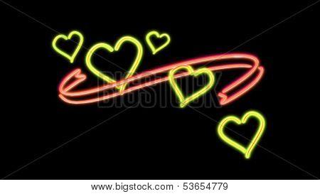 Neon Heart Color Orange