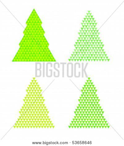 Abstract Trees With Triangle On The Top