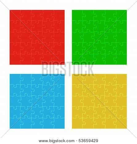 Four Color Puzzle Fields