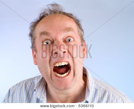 Man Screaming About Something