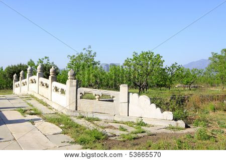 White Marble Stone Bridge In The Eastern Royal Tombs Of The Qing Dynasty, China