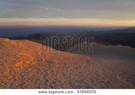 Sunset near Eilat, Yehoash mountain