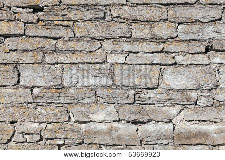 Background Texture Of Old Gray Stone Wall