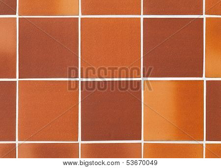 Red Square Tile On The Wall