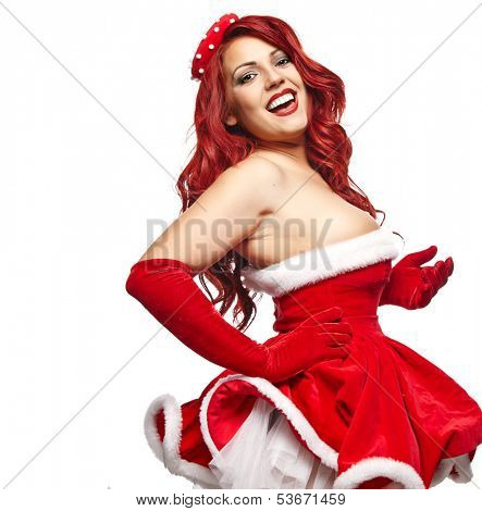 Pin-up christmas girl