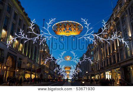 Regent Street Christmas lights 2013