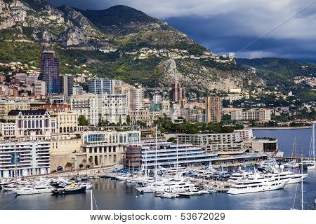 The Principality of Monaco. Ships at berth
