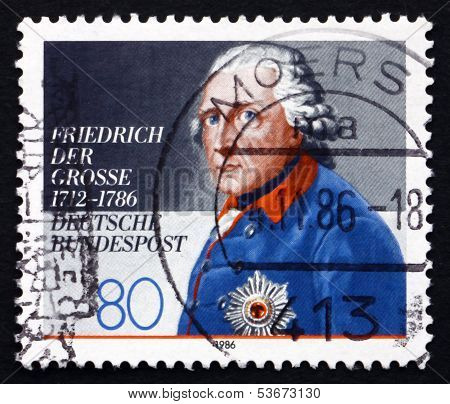 Postage Stamp Germany 1986 Frederick The Great, King Of Prussia