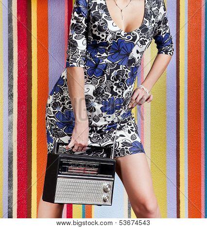 Woman With Portable Radio