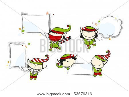 Funny kids #69 - Christmas backgrounds (raster version)
