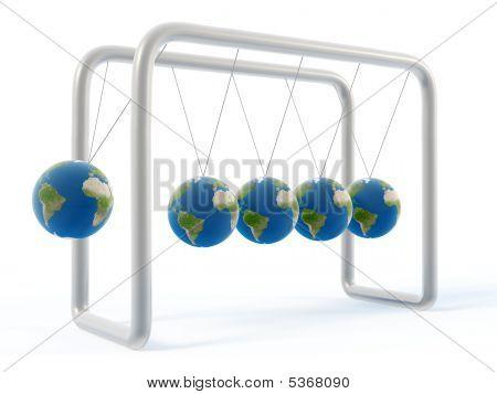 Newton Erde Wiege
