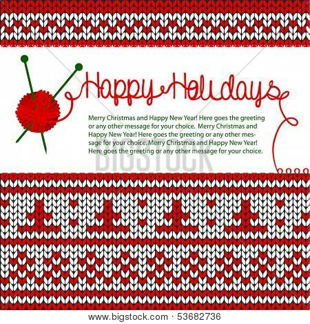 Happy Holidays knitting greeting