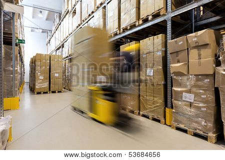 Fork Lift Operator With Products