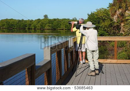 Photographers at Wildlife Refuge