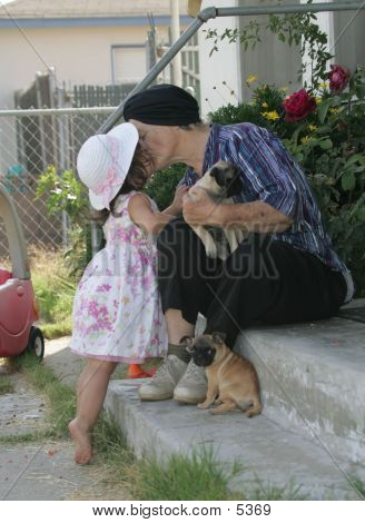 Love Of A Child And Grandmother