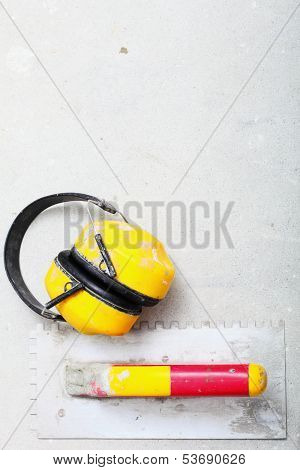Yellow Working Protective Headphones