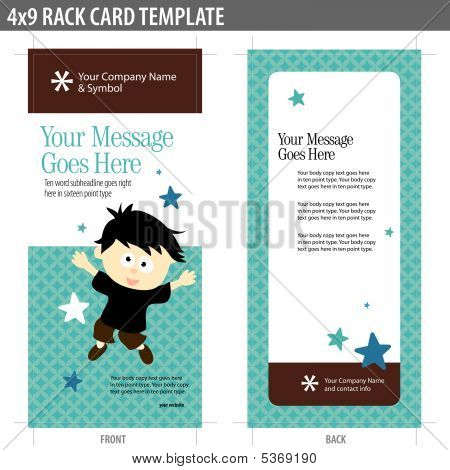 4x9 Rack Card Template