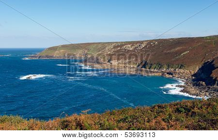 Cornwall coast view Zennor Head Cornwall England UK near St Ives on the South West Coast Path