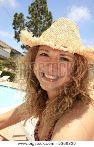 Girl Near Pool