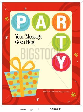 8.5x11 Party Flyer/Poster Template Vector