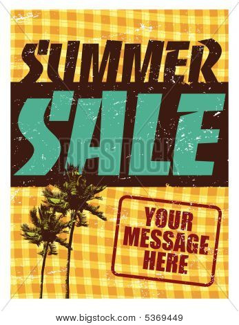 Summer Sale Flyer/Poster Template Vector
