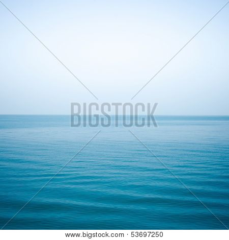 Sea Indigo Color And Soft Wave