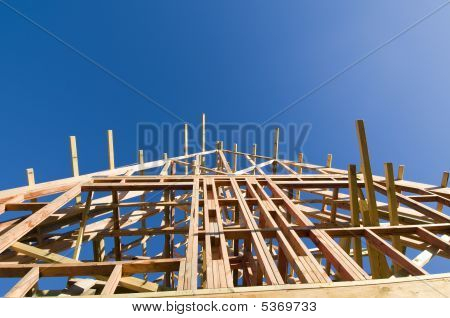 Wooden Frame Of House