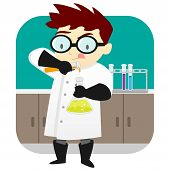 Scientist In The Lab