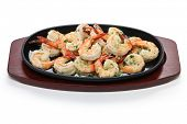 stock photo of sauteed  - shrimp scampi in garlic butter - JPG