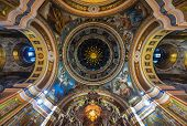 stock photo of church interior  - Our Lady of Kazan Church Irkutsk - JPG