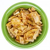 picture of kimchi  - fermented napa cabbage with garlic and onion  - JPG